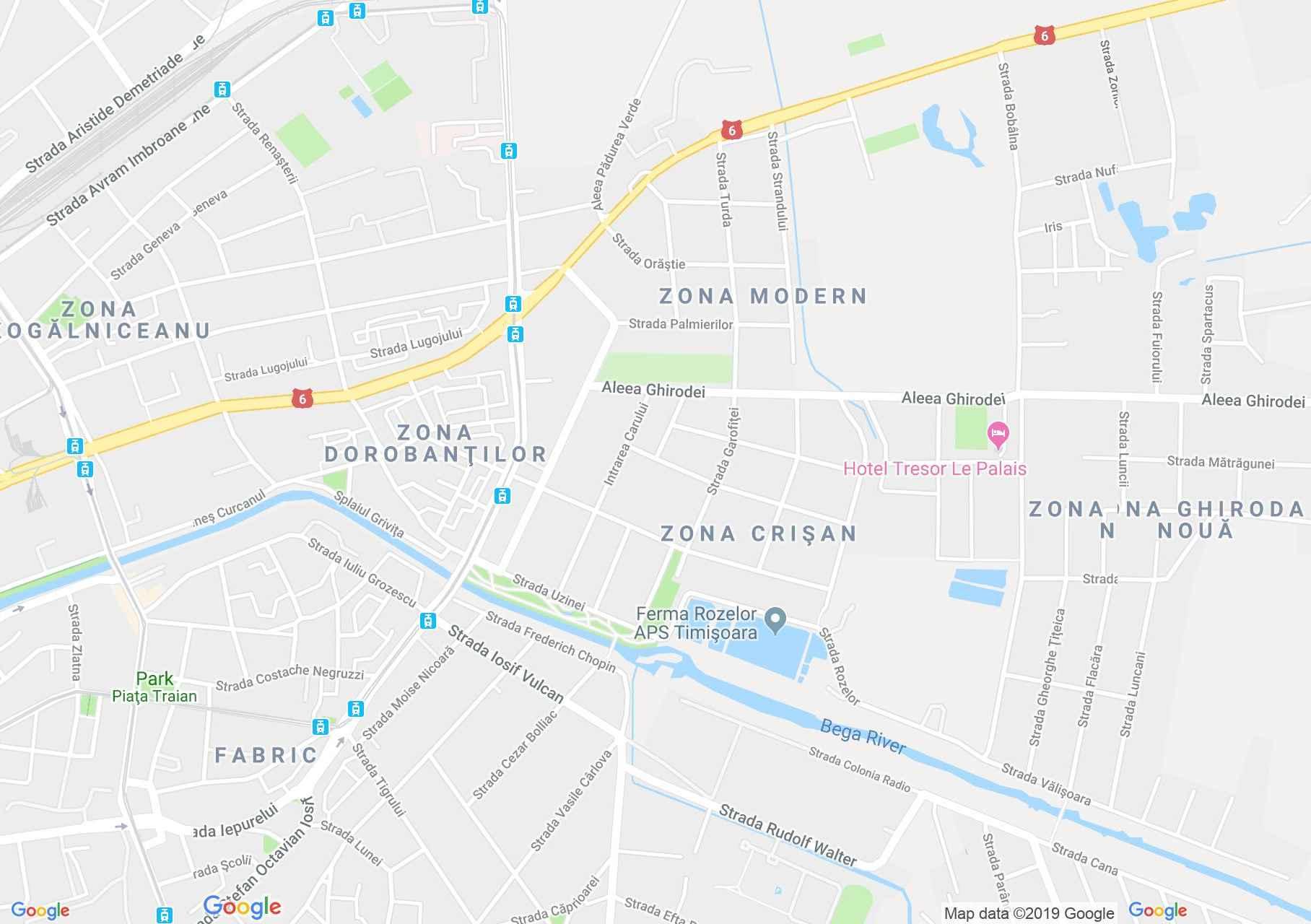 Temesvár: A vizierőmű (térkép)
