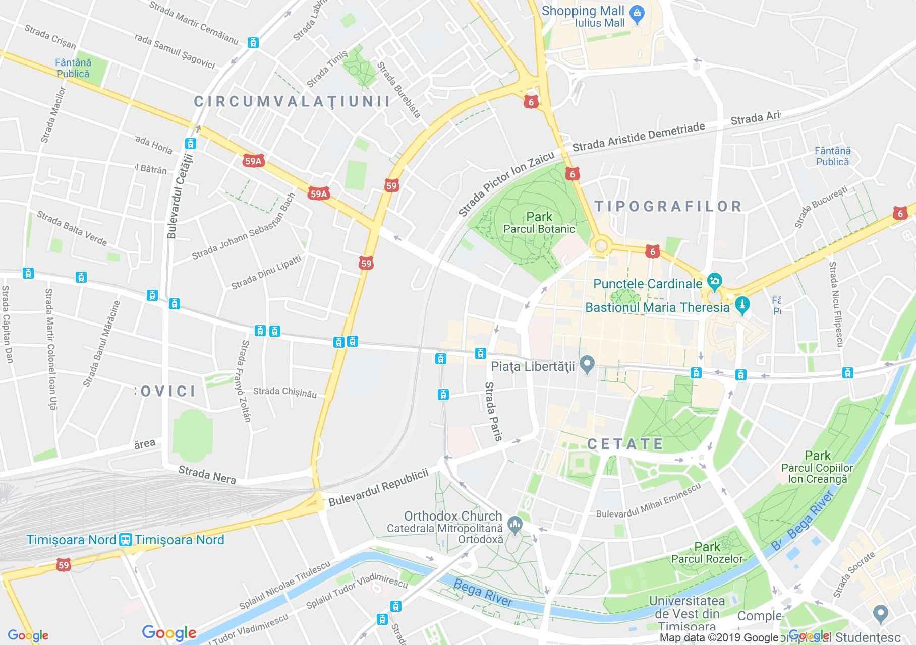 Temesvár: Piarista gimnázium (térkép)