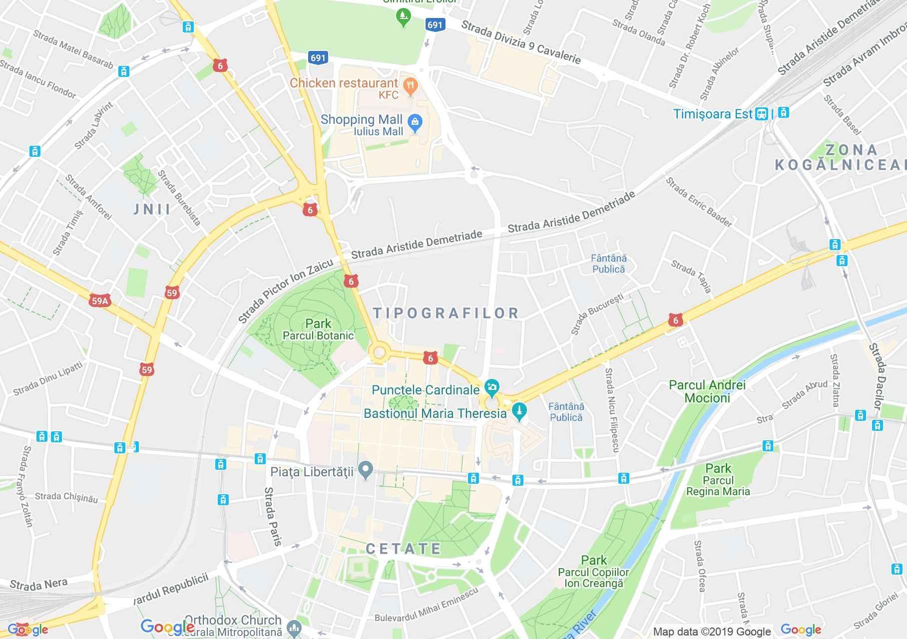 Temesvár: Dejan palota (térkép)