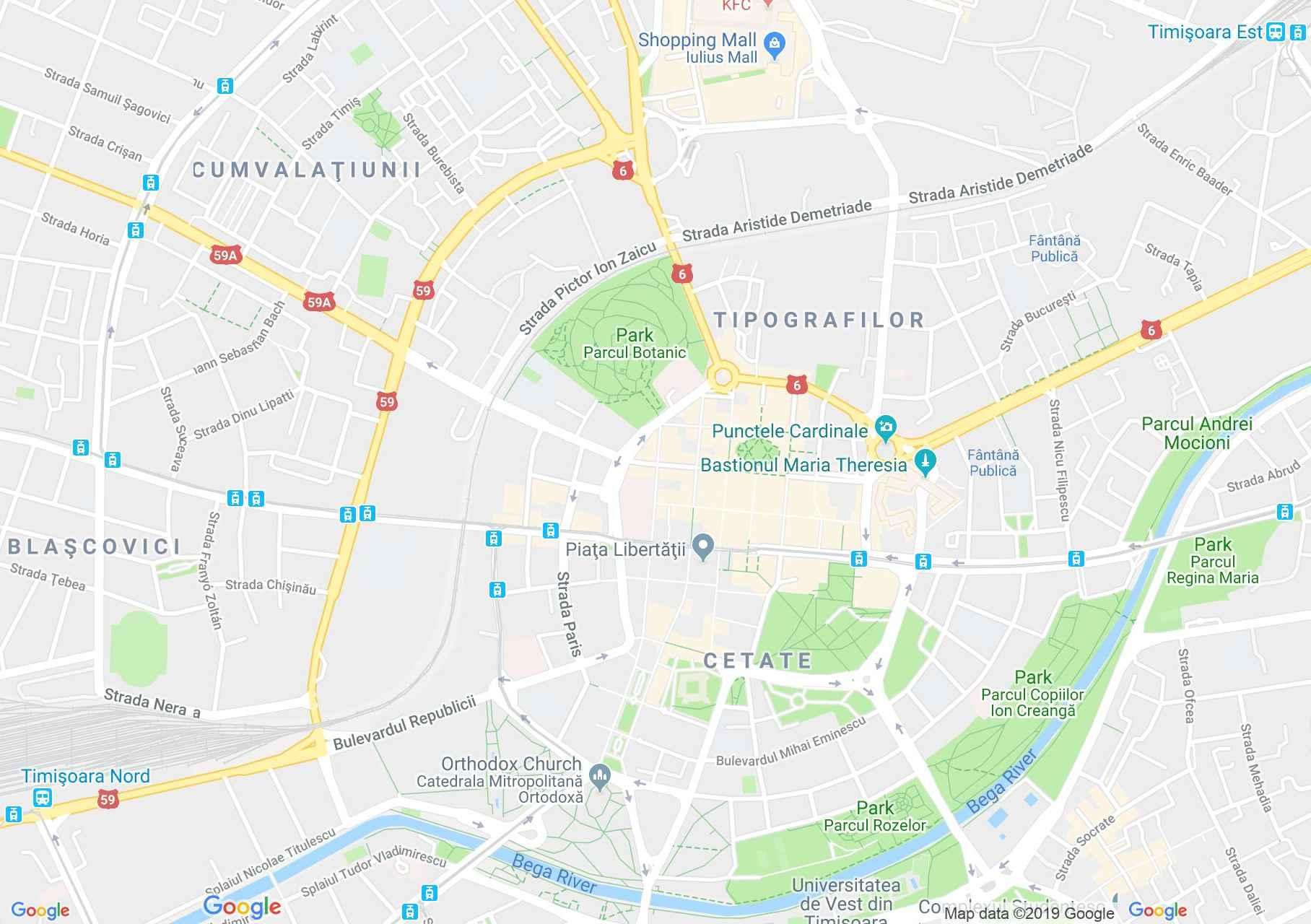 Temesvár: Löffler palota (térkép)