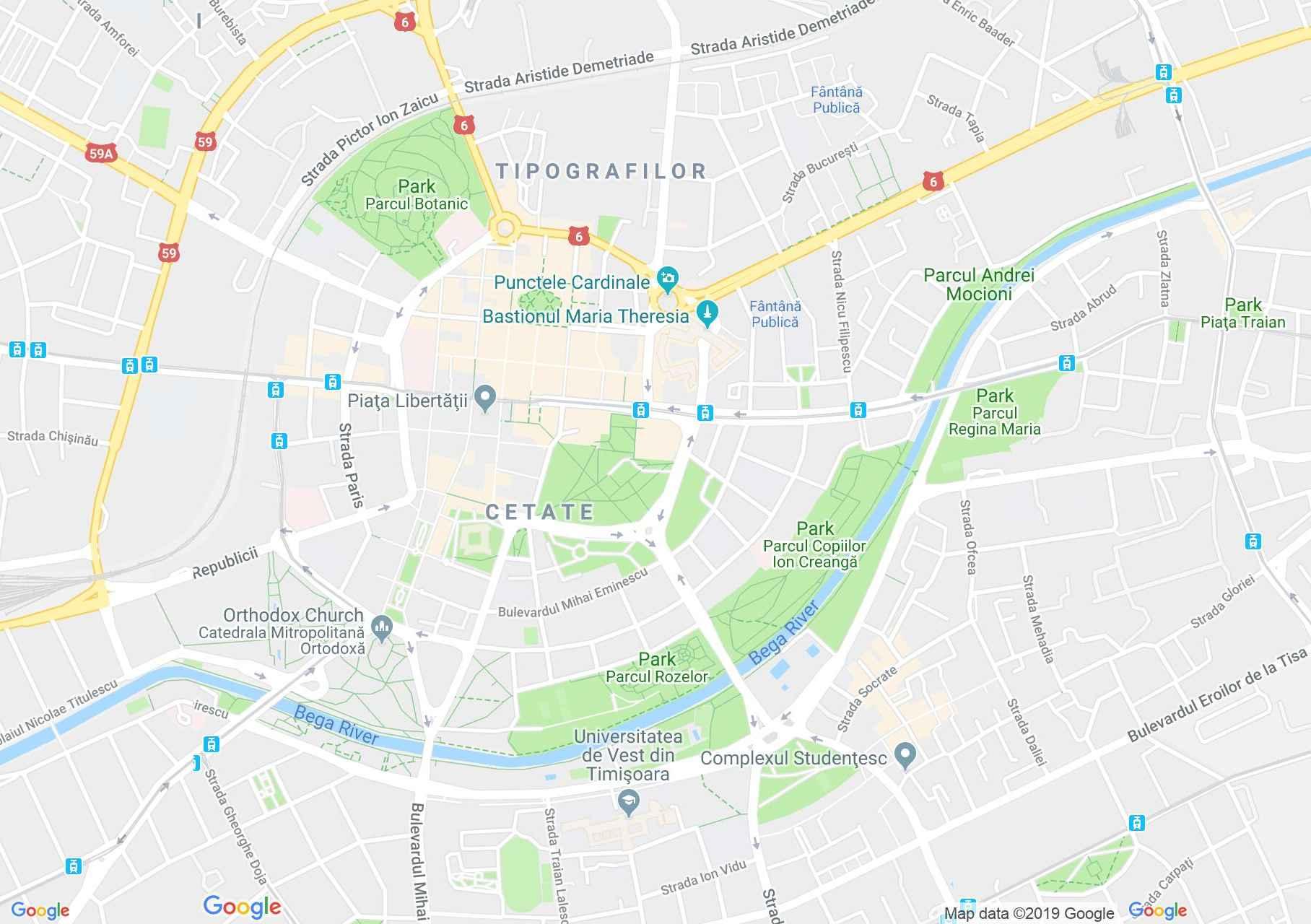 Temesvár: Rózsapark (térkép)