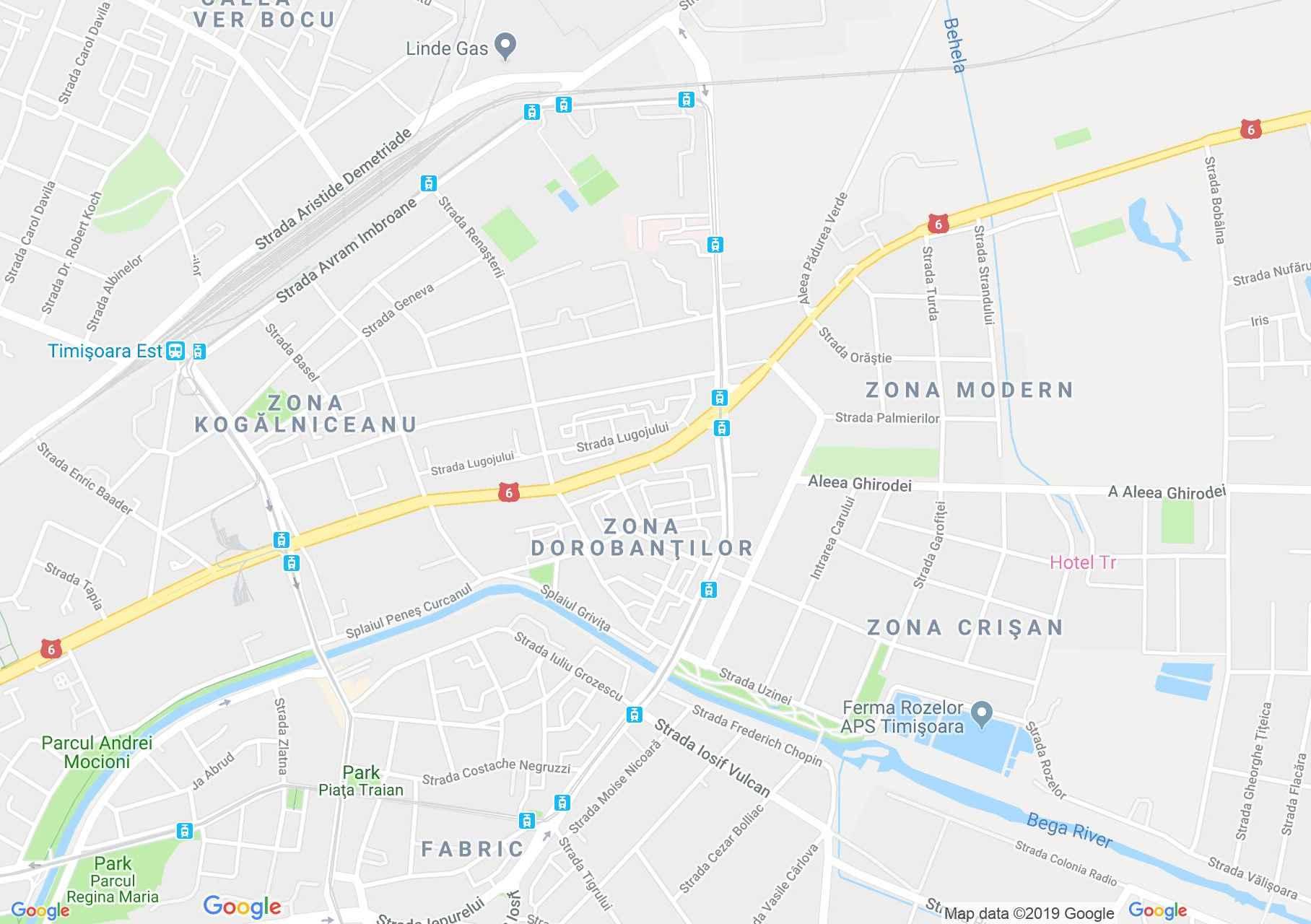 Temesvár: Mihai Viteazul híd (térkép)