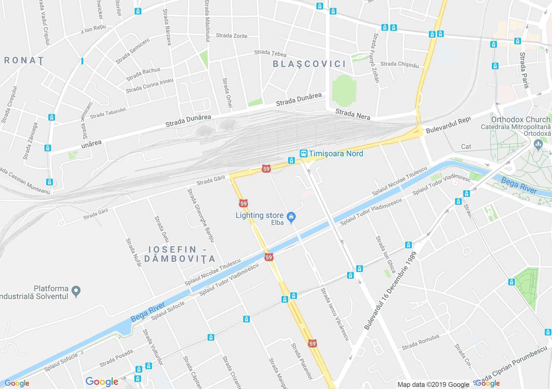 Temesvár: A józsefvárosi zsinagóga (térkép)