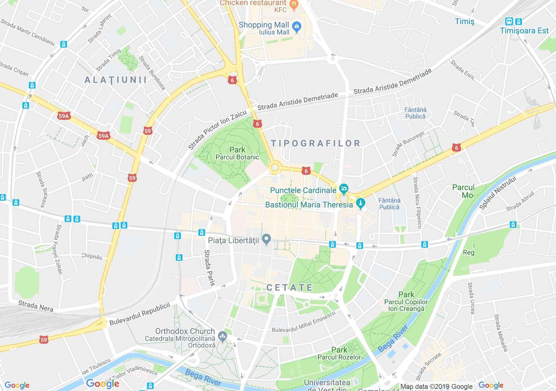 Temesvár: Temesvár (térkép)