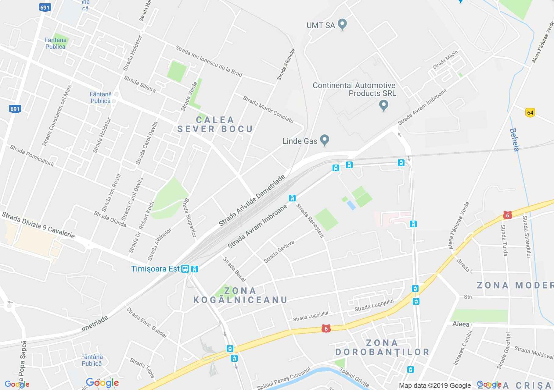 Temesvár: Gyárvárosi víztorony (térkép)