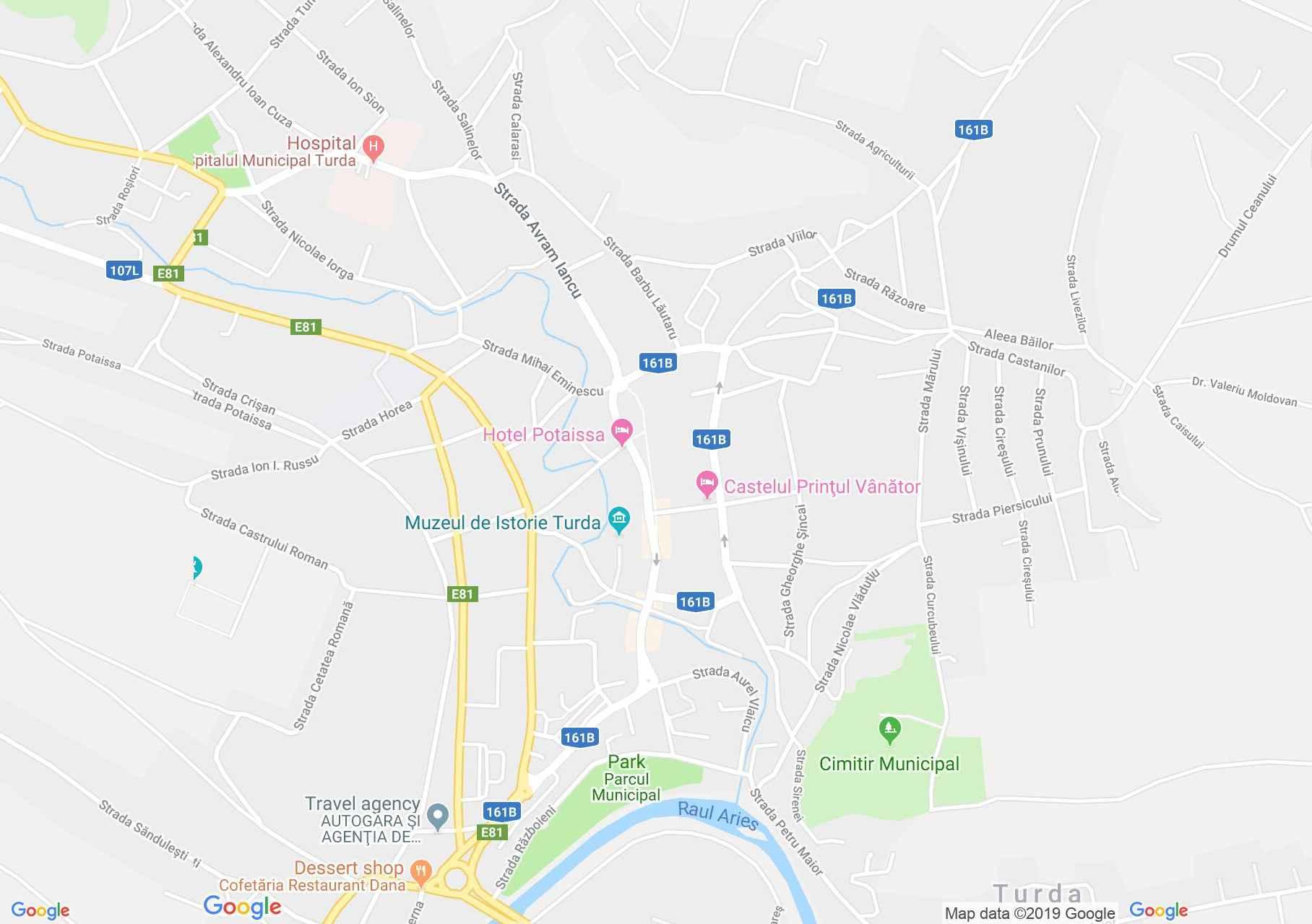 Torda: A vármegye ispánjának háza (térkép)