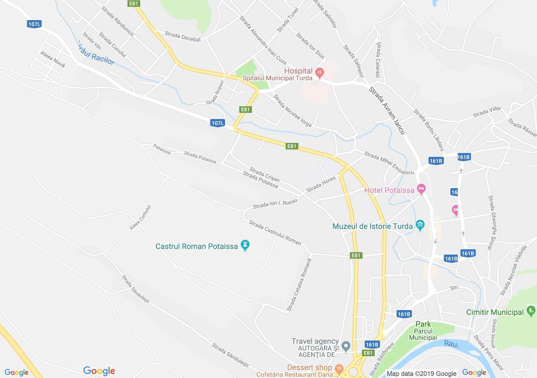 Torda: Római vár (térkép)