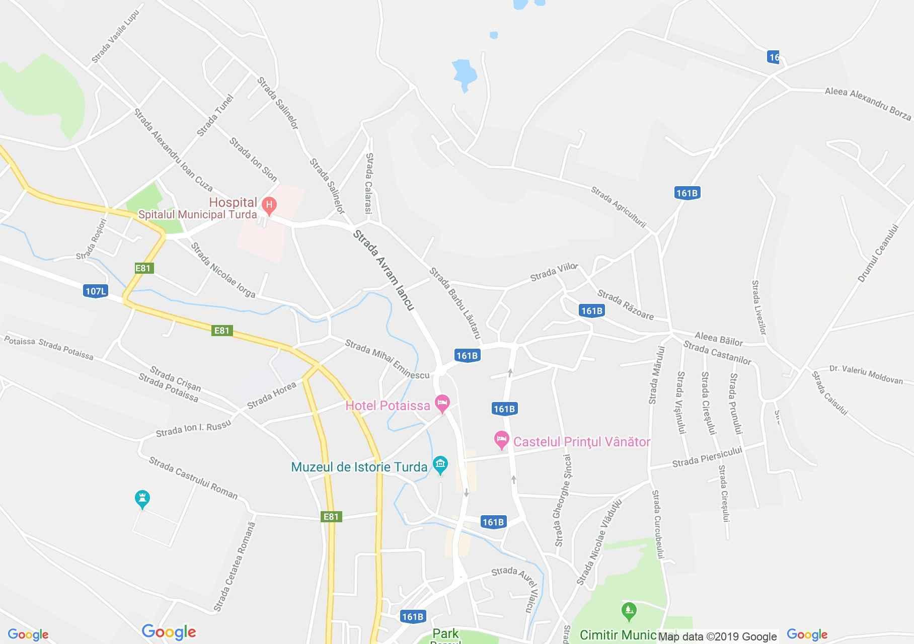 Torda: Pénzügyi palota (térkép)