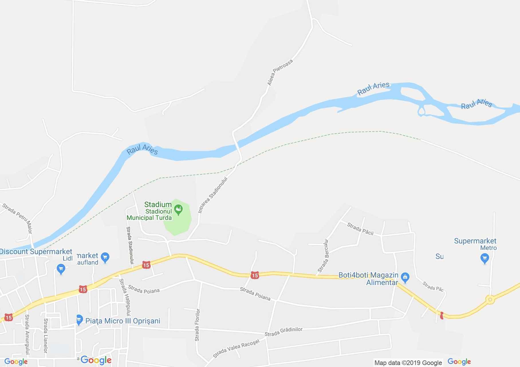 Torda: Aranyospolyán Református templom (térkép)