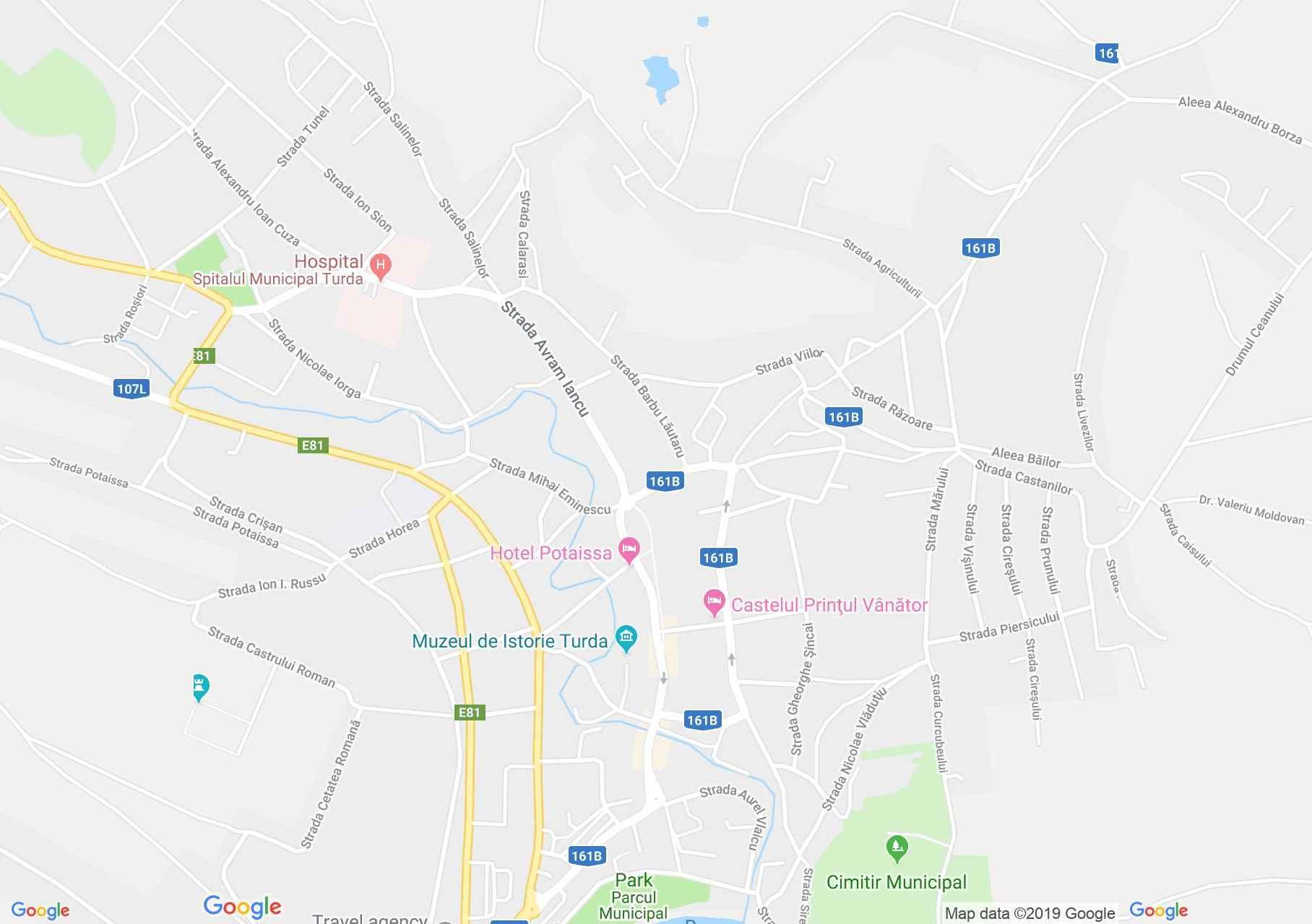 Map of Turda: Reformed school