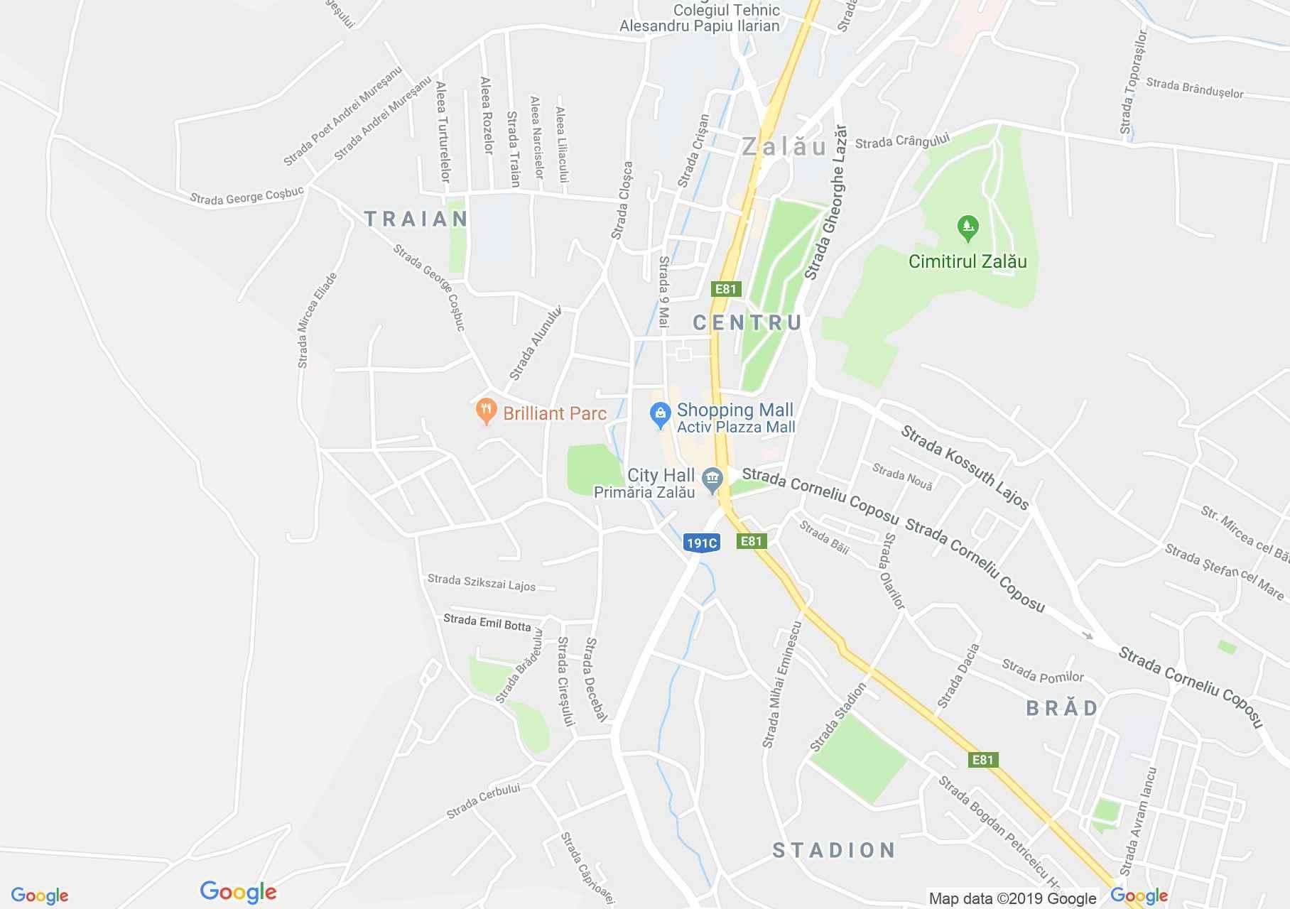 Hartă Zalău: Casa Sera