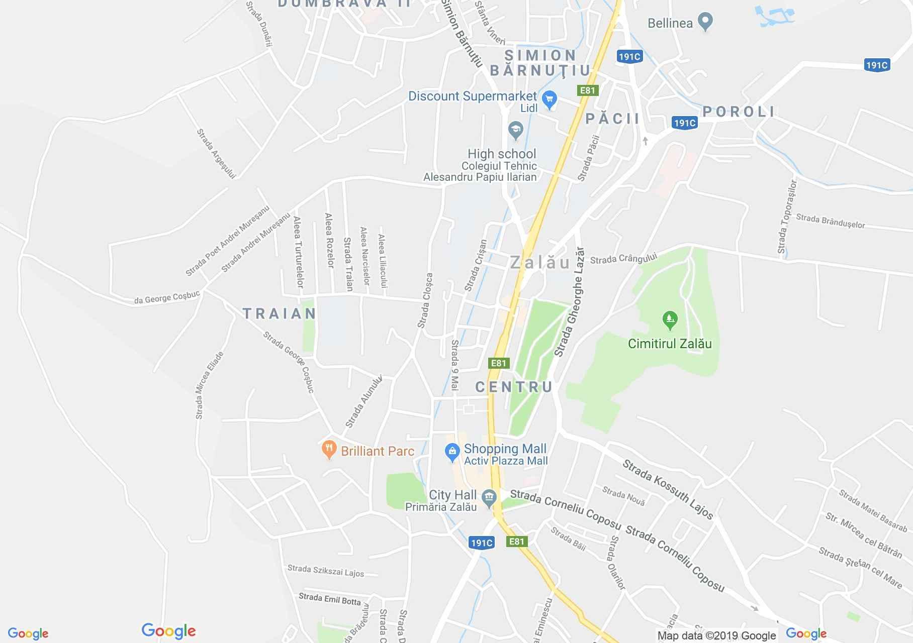 Zilah: Iparos egylet kaszinója, Történelmi múzeum (térkép)