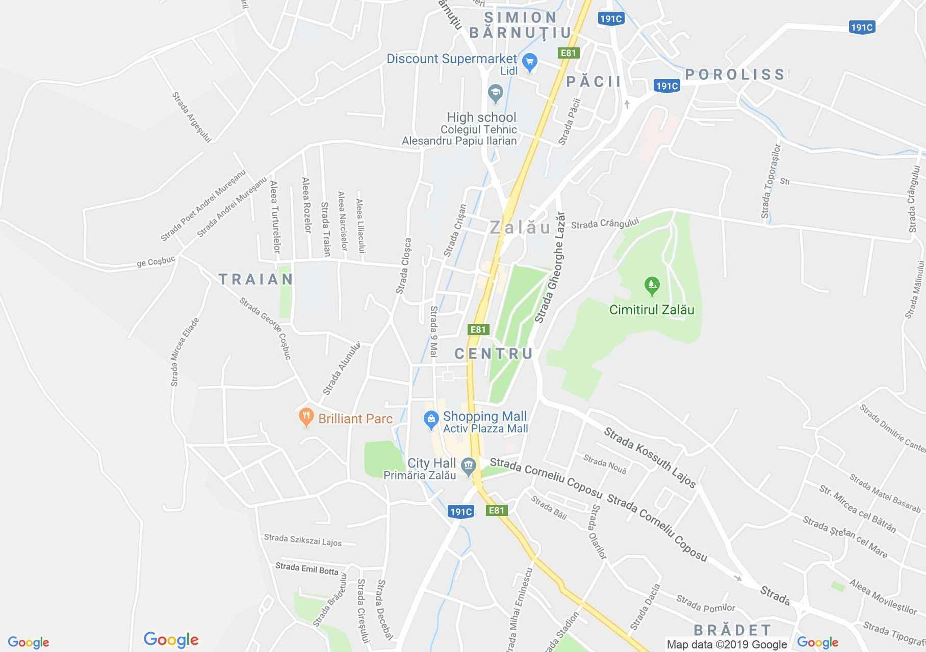 Hartă Zalău: Primăria